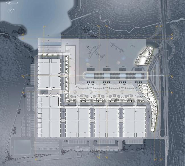 Конгрессно-выставочный комплекс «Экспофорум» на Петербургском шоссе. План 2 этажа © SPEECH, Евгений Герасимов и партнеры