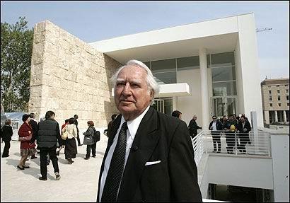 Ричард Майер на открытии музея «Алтаря мира»
