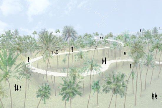 Смотровая платформа для Пальмераль де Эльче. Конкурсный проект