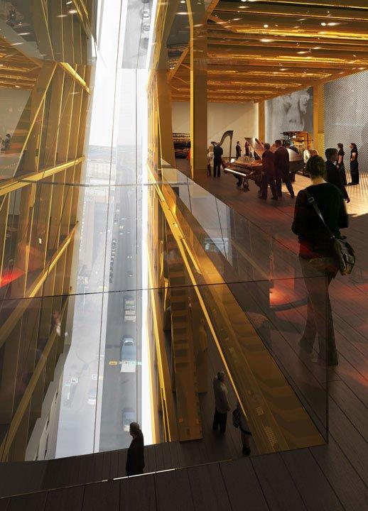 Жан Нувель - проект «Свободная фортепьянная башня»