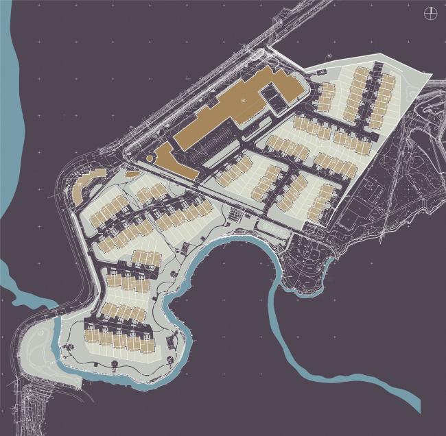 Спортивно-жилой комплекс «Олимпийская деревня Новогорск». Генеральный план. Проект, 2009 © «Архитектуриум»