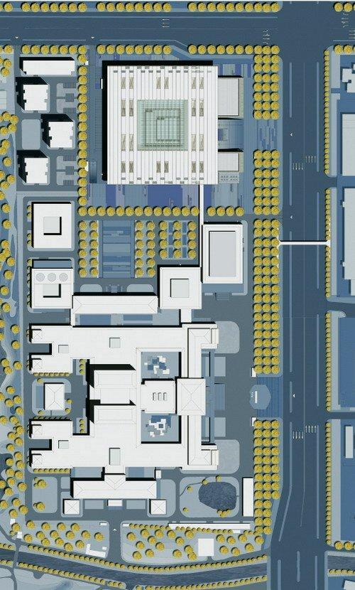 Национальная библиотека Китая – новый корпус. Ситуационный план © KSP Jürgen Engel Architekten