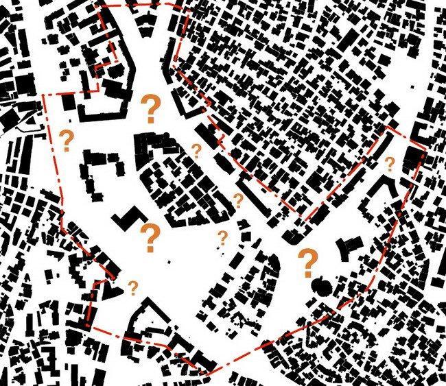 Генплан центра города Корча. Современное состояние зоны охвата генплана