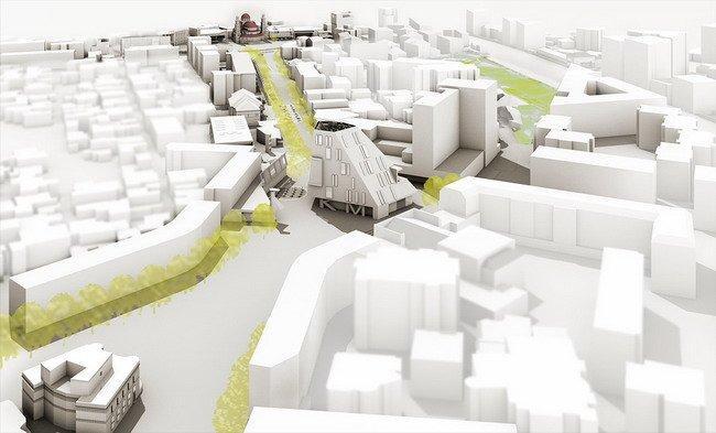 Генплан центра города Корча. Зона 3 – «Бульвар культуры»