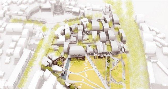 Генплан центра города Корча. Зона 4 – «Лоскутный квартал»