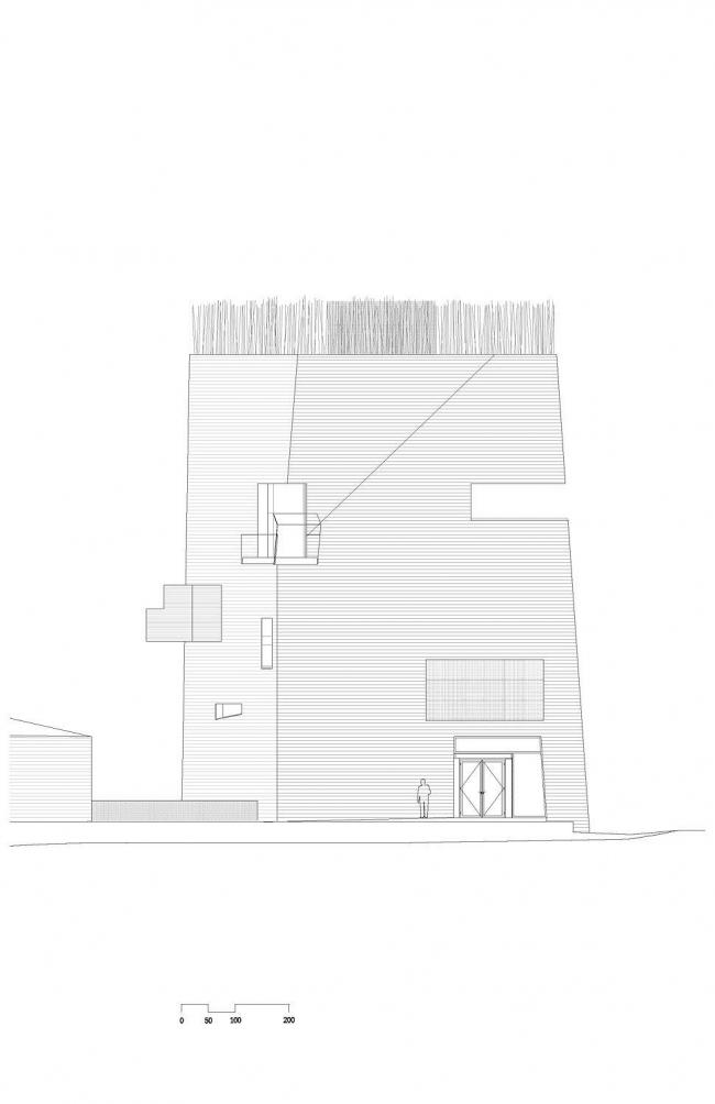 Центр Кнута Гамсуна. Северный фасад © Steven Holl Architects