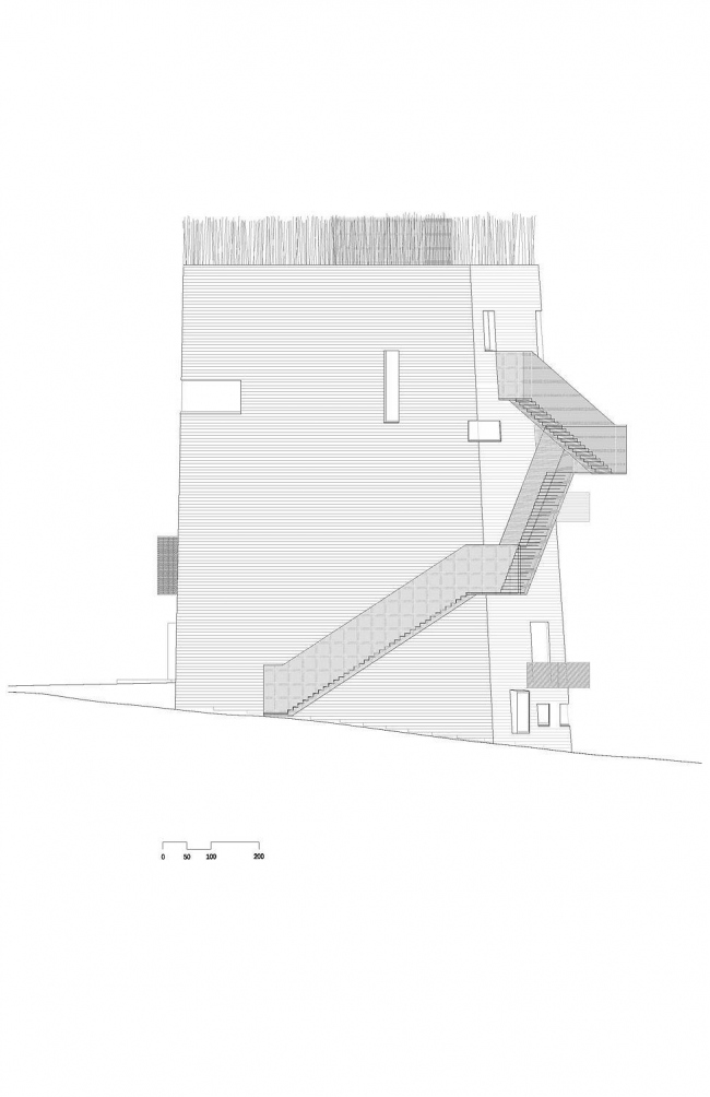 Центр Кнута Гамсуна. Западный фасад © Steven Holl Architects
