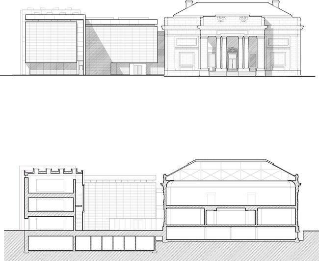 Музей искусств Университета Мичигана. Фасады © Allied Works Architecture