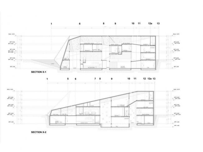 Вилла N 67 комплекса Ордос-100. Разрезы
