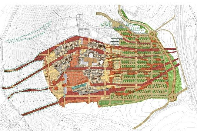 Город культуры Галисии. Проект © Eisenman Architects