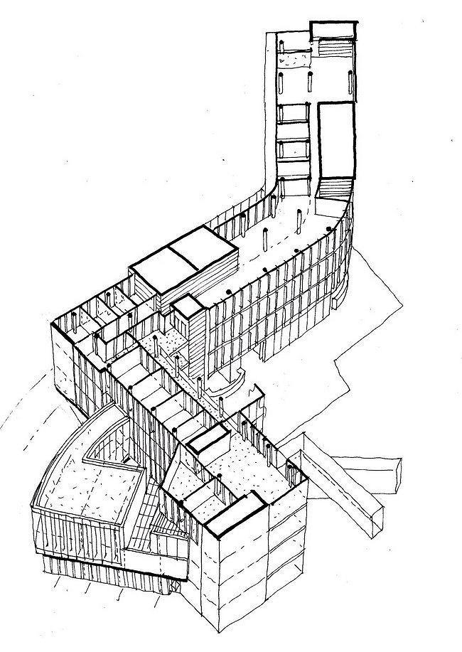 Здание администрации графства Уэстмит. Проект