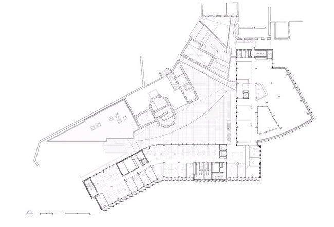 Здание администрации графства Уэстмит. План 1-го этажа