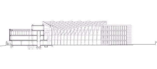 Здание администрации графства Уэстмит. Разрез