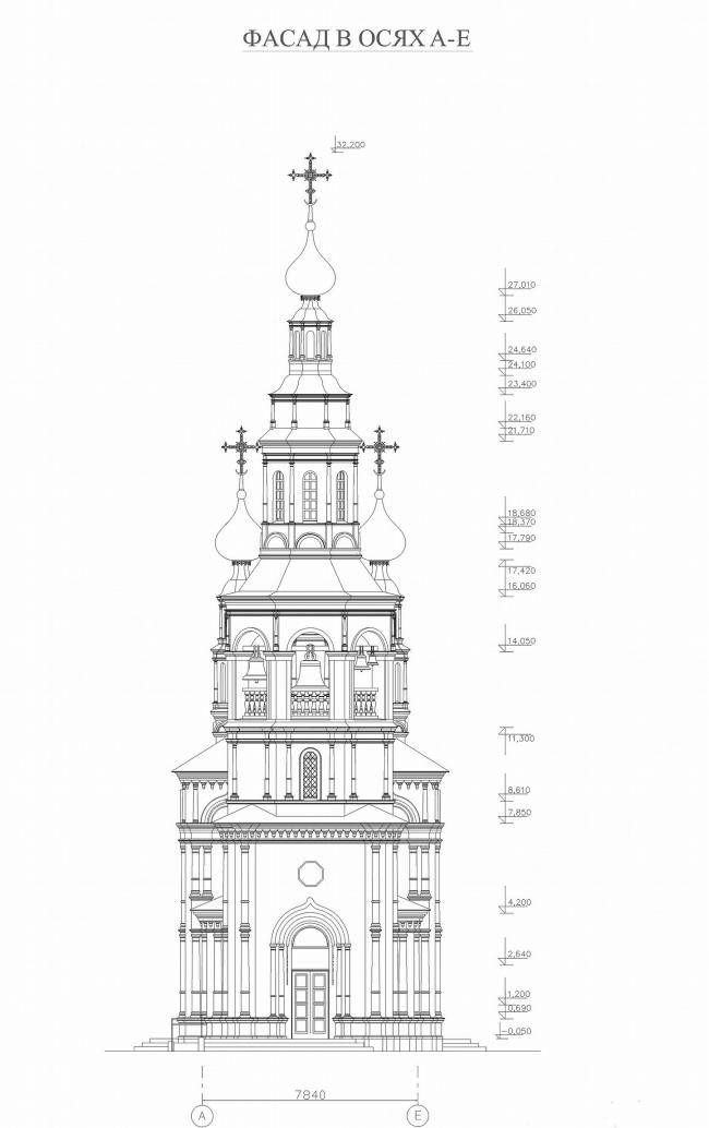 Православный храм в Озерске. Проект, 2008-2009 © «Архитектурные мастерские – Классика»