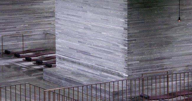 Комплекс термальных бань. Вальс, Швейцария. 1983-1996 гг. Фото автора