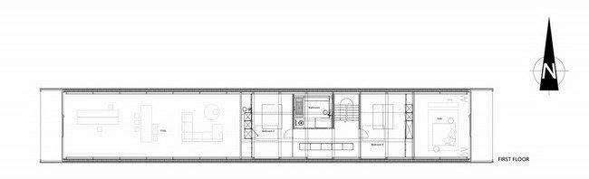 Дом Woning H. План 2-го этажа © Buro II & Archi+I