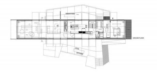 Дом Woning H. План 1-го этажа © Buro II & Archi+I