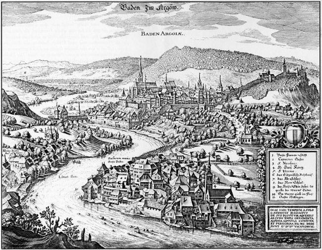 Маттеус Мериан. Баден. До 1642