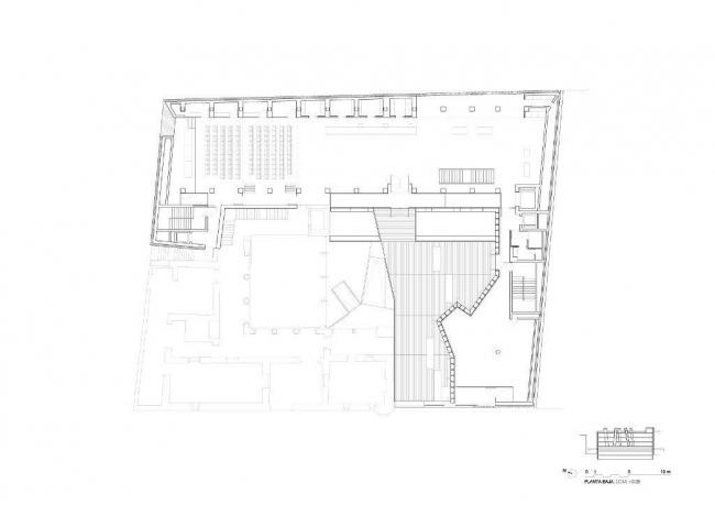 Археологический музей провинции Алава. План 1-го этажа © Francisco Mangado