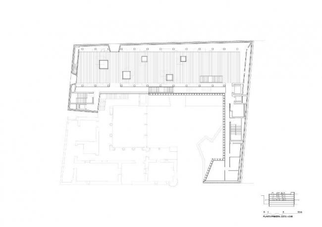 Археологический музей провинции Алава. План 2-го этажа © Francisco Mangado