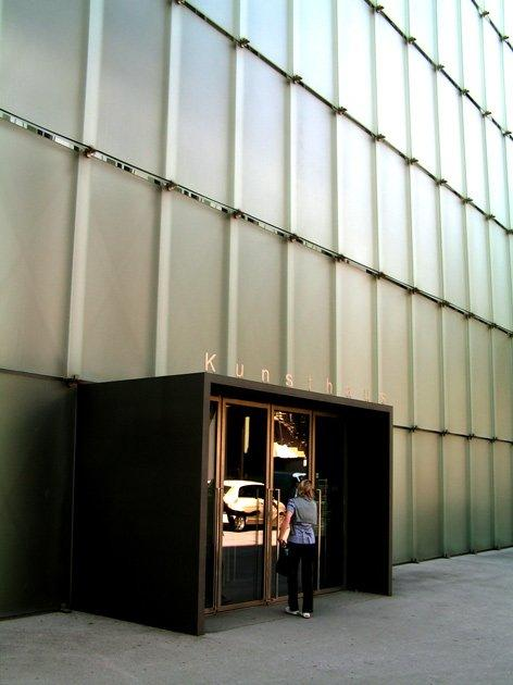 «КУБ», Петер Цумтор, 1997, Брегенц. Вход. Фото: Надежда Щема