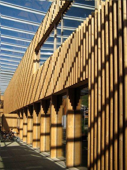 Административно-общественный центр в Людеш,Австрия, Герман Кауфман. 2005. Фото: Марина Игнатушко