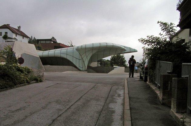 Станции канатной дороги, Инсбрук, 2007. Заха Хадид. Фото: Надежда Щема