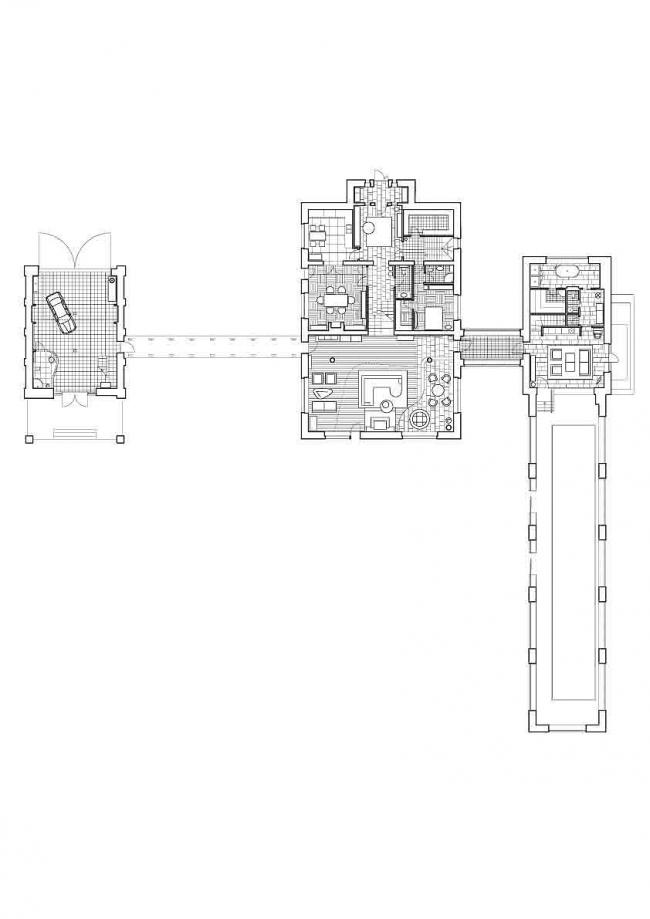 Индивидуальный жилой дом с бассейном и гаражом, Поздняково