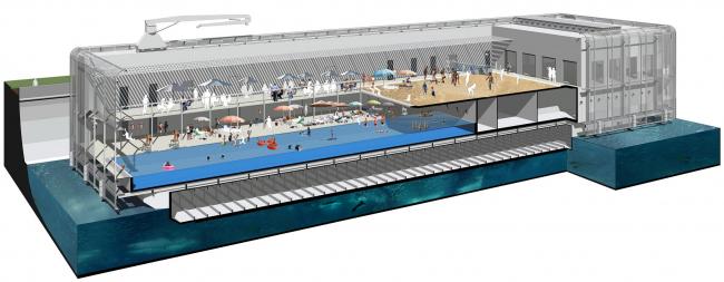 3D разрез бассейна