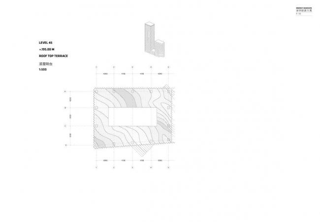 Шеньчженьский международный дом энергии. План 45-го уровня (терраса на крыше)