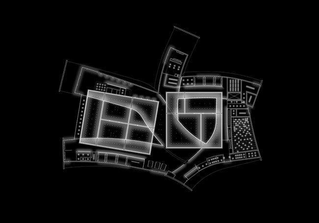 Музей современного искусства Хернинга – HEART. Схема освещения © Steven Holl Architects