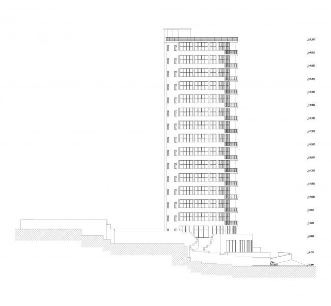 Многоэтажный жилой дом «Белый дом» © «Архитектурные мастерские – Классика»