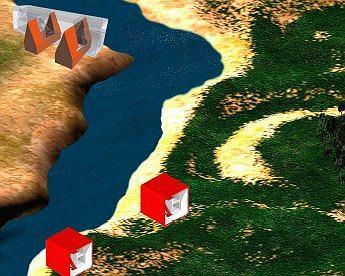 Гений места. Один из участков виртуального архипелага, открытый для персональной застройки. Как и в реальной жизни, самой большой популярностью пользуются территории у воды. с ними интересно работат