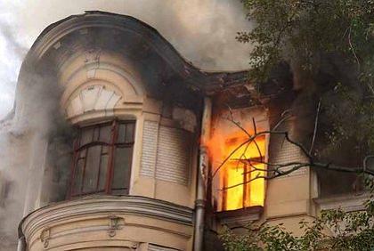 Пожар в доходном доме купца Быкова