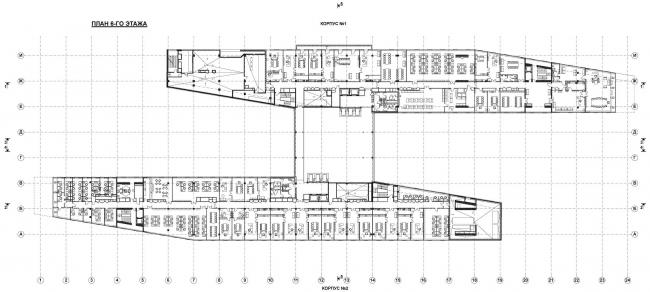 План на уровне 6 этажа