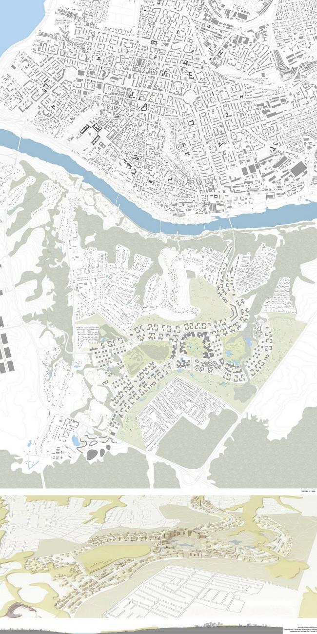 Генплан нового района в Калуге. Группа Михаэля Айхнера