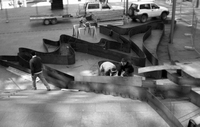 Сад на лестнице. Процесс строительства © Balmori Associates