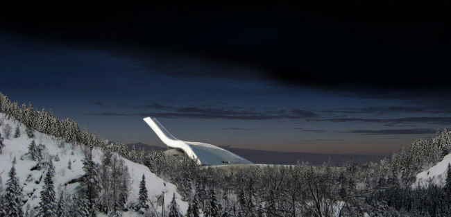 Лыжный трамплин в Хольменколлен © JDS