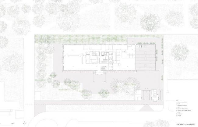 Посольство Великобритании в Польше. Первый этаж © Tony Fretton Architects