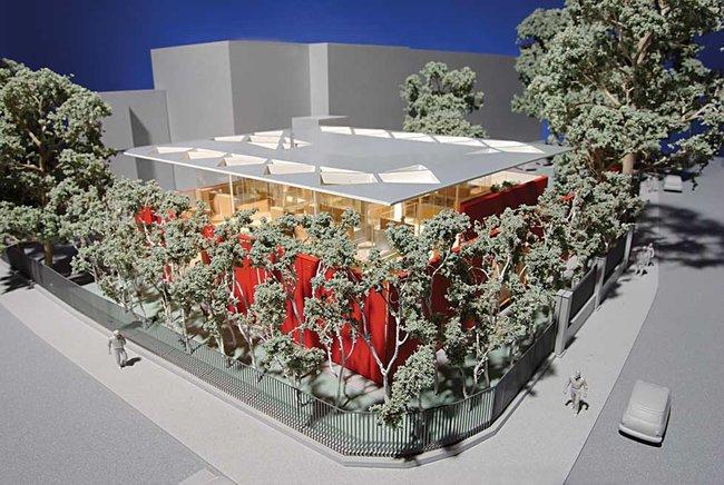 Онкологический центр Мэгги больницы Чэринг-Кросс. Фото макета