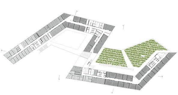 Университет прикладных наук «FH Campus Wien». 2-й этаж © Delugan Meissl Associated Architects