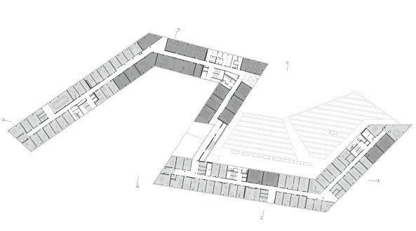 Университет прикладных наук «FH Campus Wien». 3-й этаж © Delugan Meissl Associated Architects