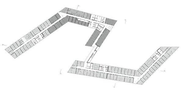 Университет прикладных наук «FH Campus Wien». 4-й этаж © Delugan Meissl Associated Architects