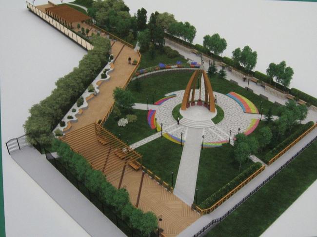 «Ландшафтный центр Якутии». Проект рекоснтрукции сквера-памятника ссыльным полякам