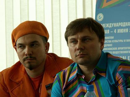 Кураторы выставки: Владимир Кузьмин и Влад Савинкин
