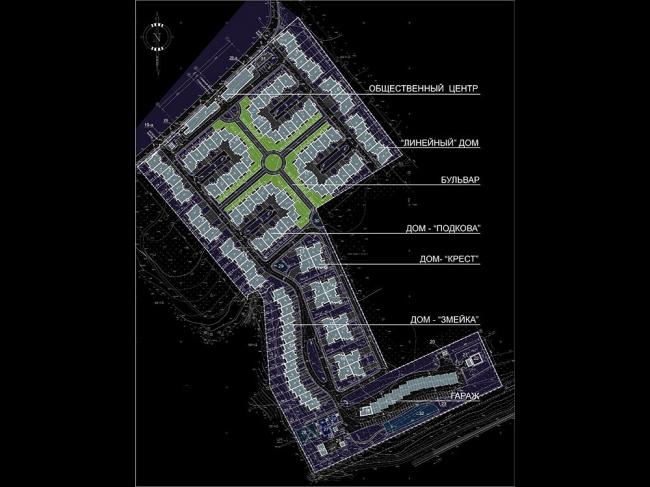 Малоэтажный жилой комплекс «НовоАрхангельское». Генеральный план © «Архитектуриум»