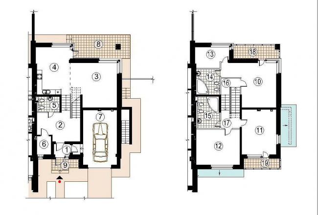 Малоэтажный жилой комплекс «НовоАрхангельское». План © «Архитектуриум»