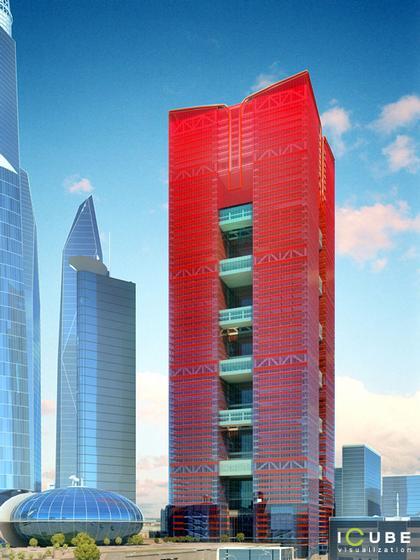 Проект здания московского правительства, проектируемого Михаилом Хазановым для Сити