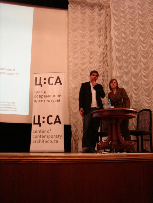 Марейн Схенк на лекции в ЦДА