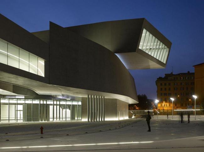 MAXXI - Национальный музей искусства XXI века. Фото © Roland Halbe